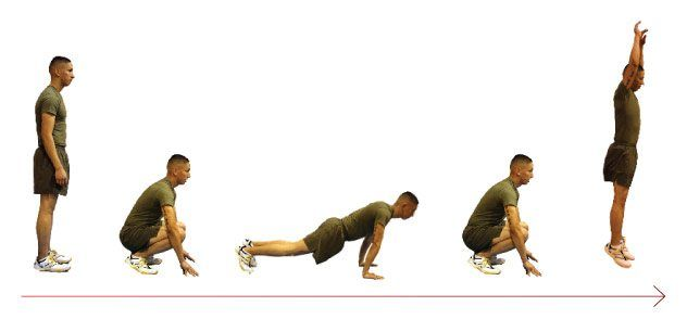 frog burpees